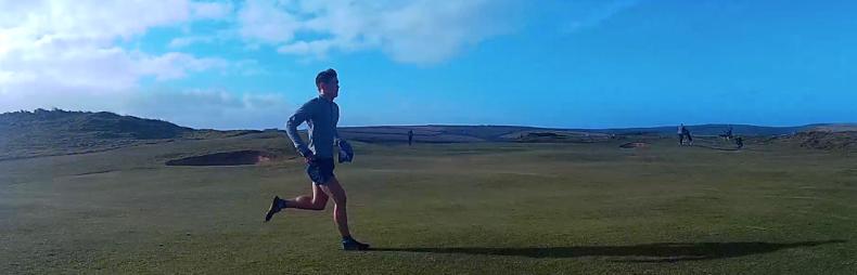 Running home via St Enodoc Golf Club.