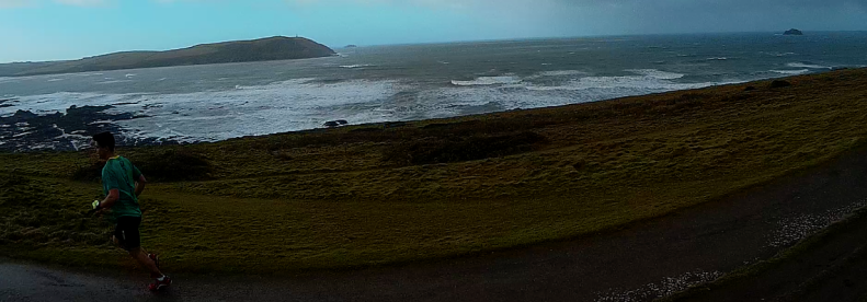 Running a 10K loop from Polzeath to Rock.